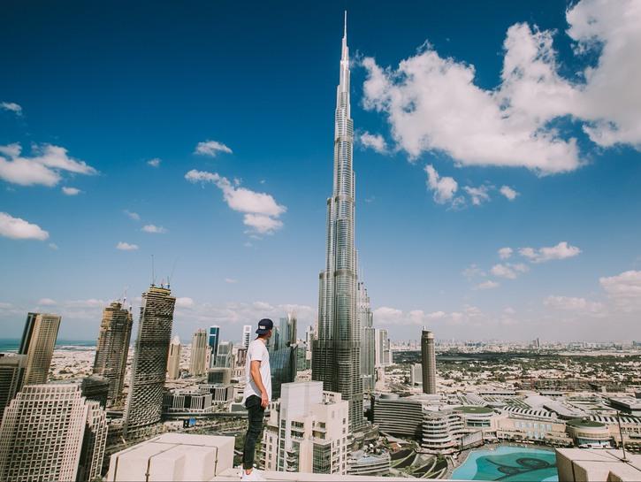 The world's tallest building, Burj Khalifa