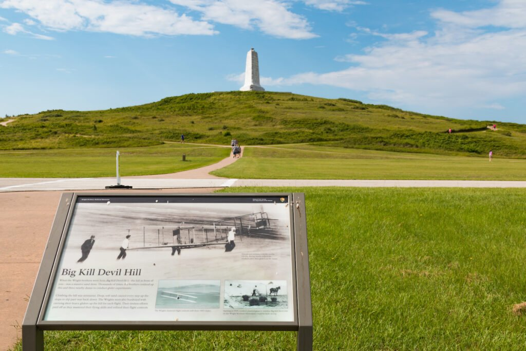 The Wright Brothers National Memorial in Kill Devil Hills.