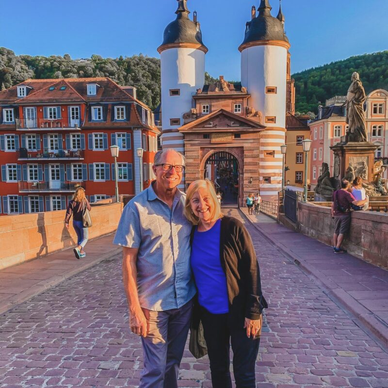 The writer and her husband in Heidelberg, Germany.