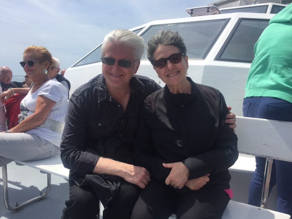 The writer and her husband Martin.
