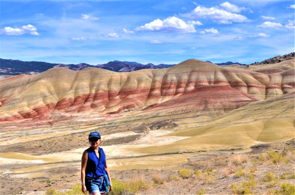 The writer at the Painted Hills in Oregon.