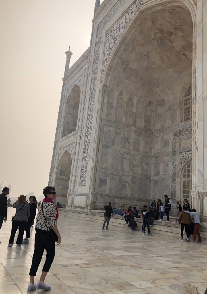 The writer at the Taj Mahal.
