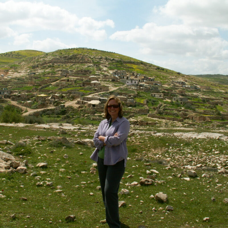 The writer during her trip to Israel.