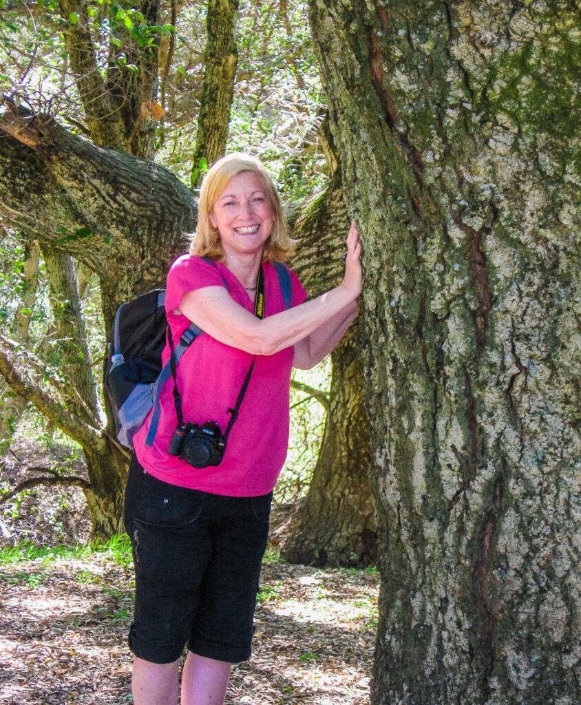 The writer enjoying a hike near San Diego, California.