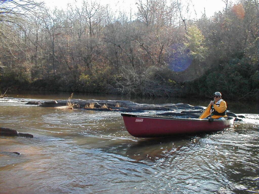 The writer enjoying Alabama's Scenic River Trail.