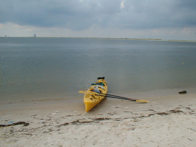 The writer getting ready to go kayaking.