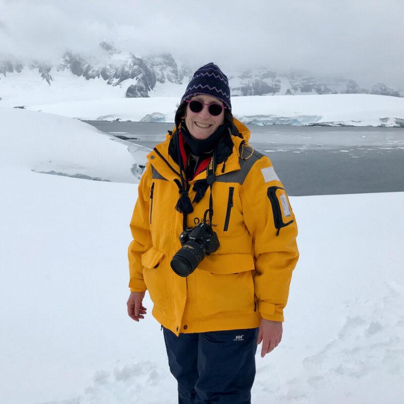 The writer in Antarctica.