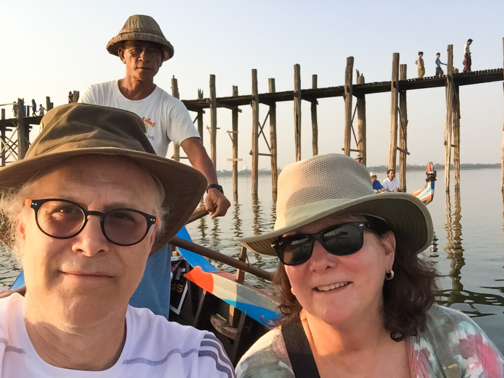 The writer in Myanmar.