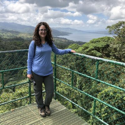 The writer on a trip to Costa Rica.