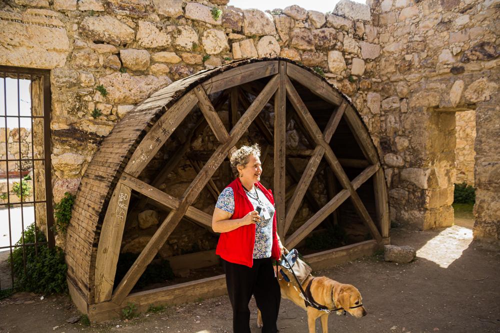 The writer on a trip to Jordan.