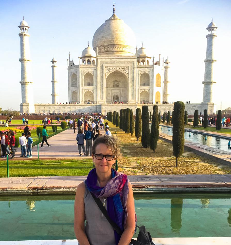 The writer on an international trip.