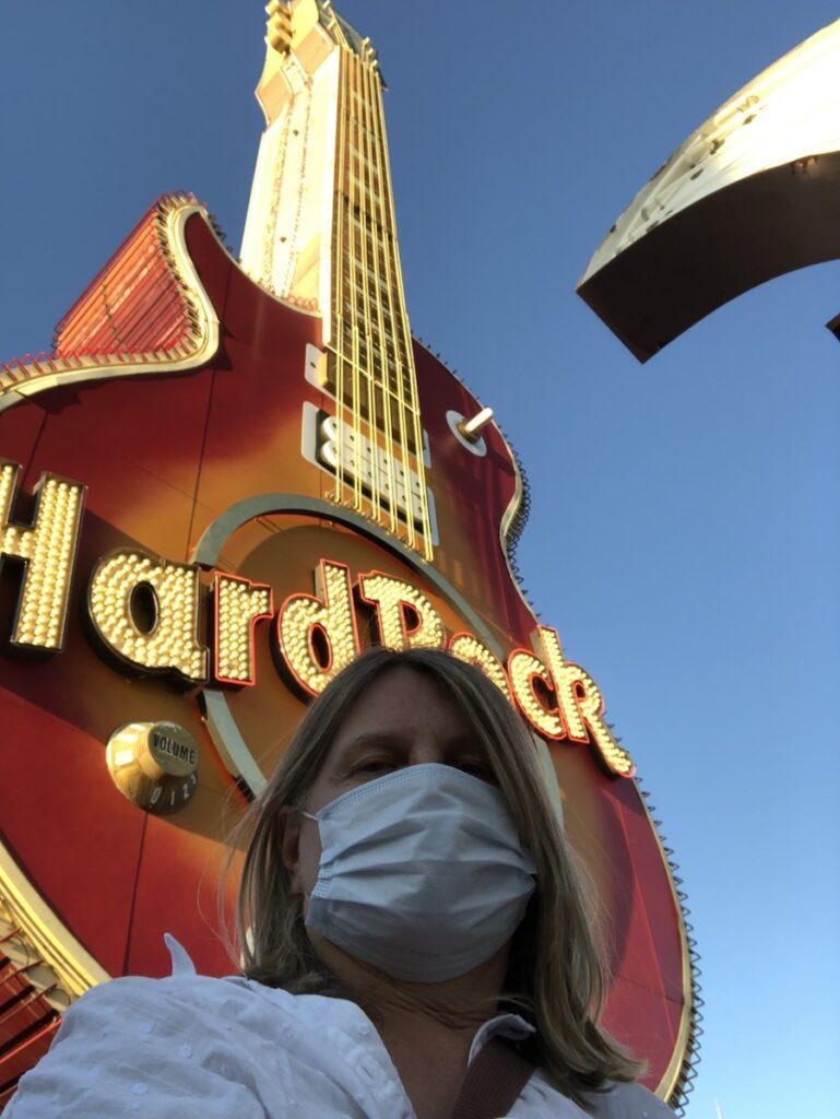 The writer on her trip through Nevada.