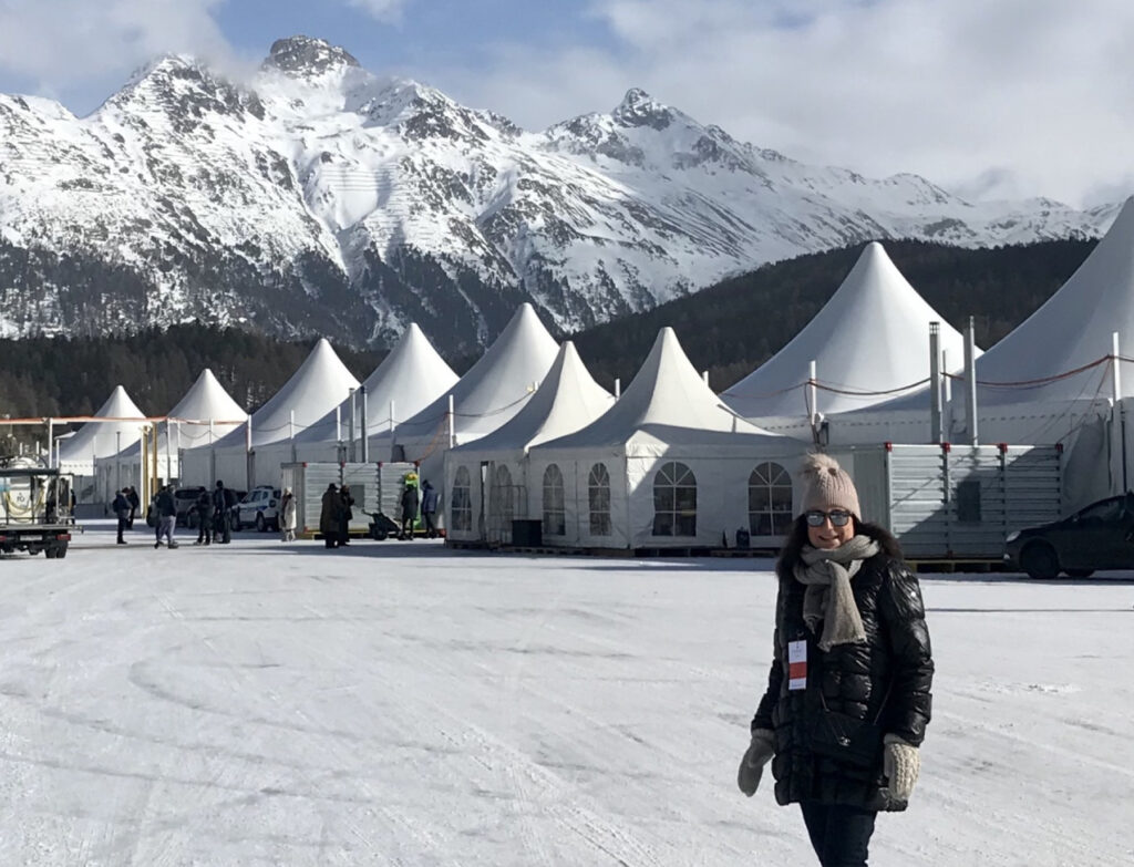 The writer on her trip to the Alps.