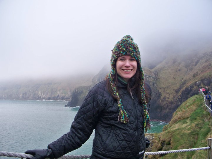 The writer on the Carrick-a-Rede bridge.
