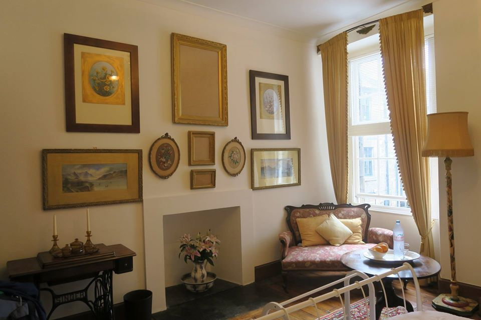 The writer's Airbnb in Edinburgh, Scotland.