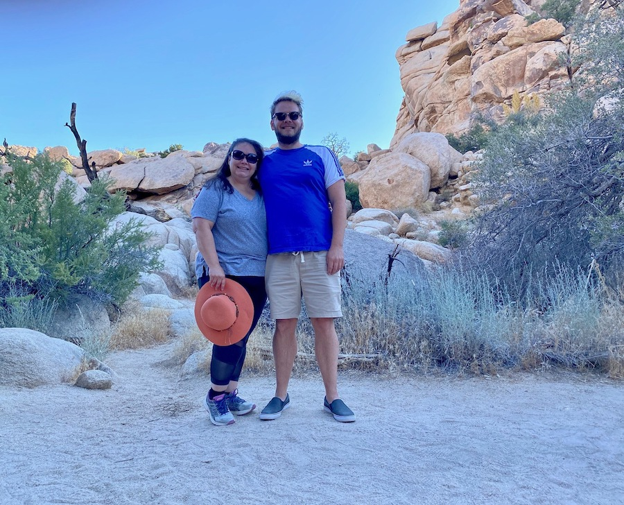 The writer's brother and sister in Joshua Tree National Park.