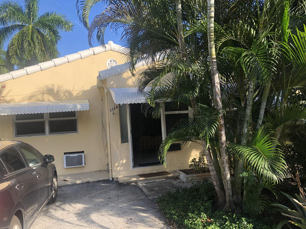 The writer's bungalow in Fort Lauderdale.