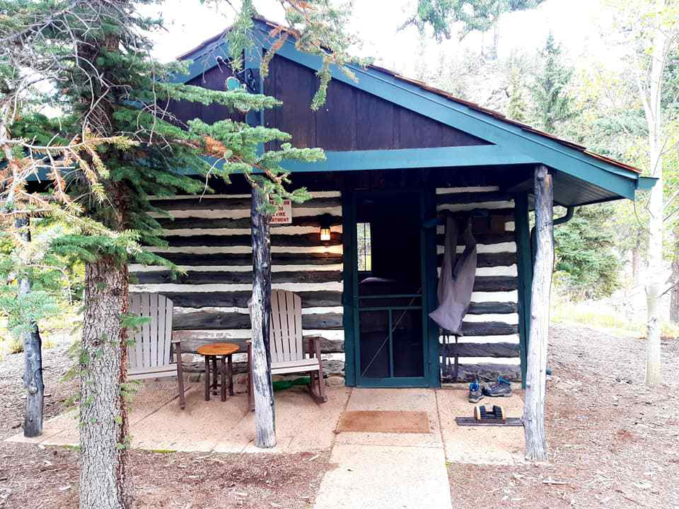 The writer's cabin during her fly fishing trip.