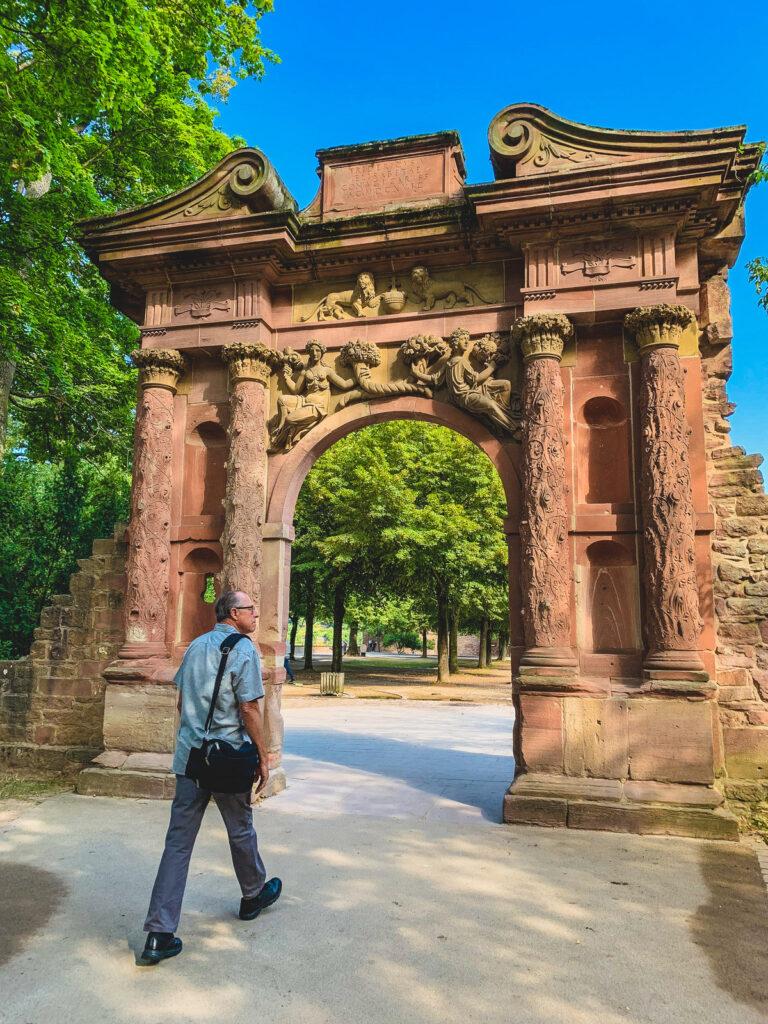 The writer's husband exploring Heidelberg.