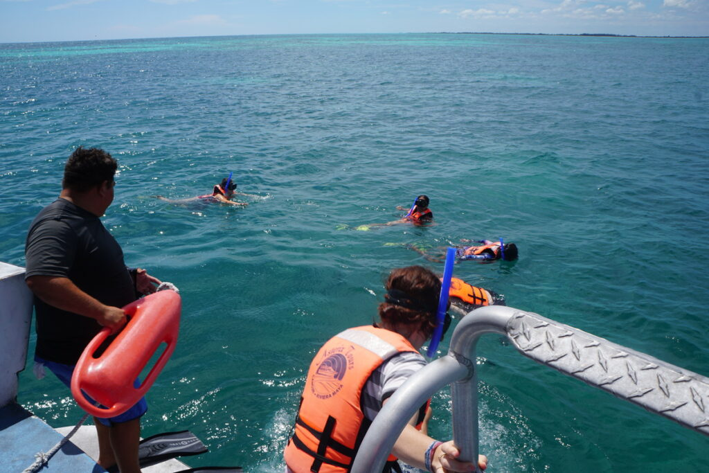 The writer's snorkeling group.