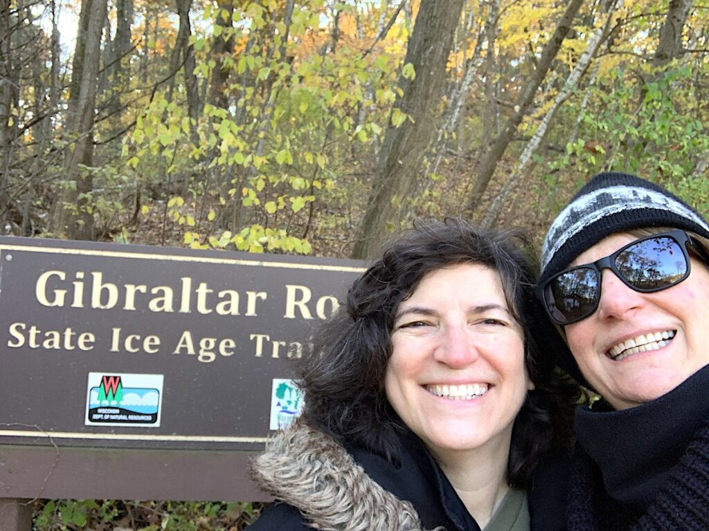 The writers on the Ice Age Trail in Wisconsin.