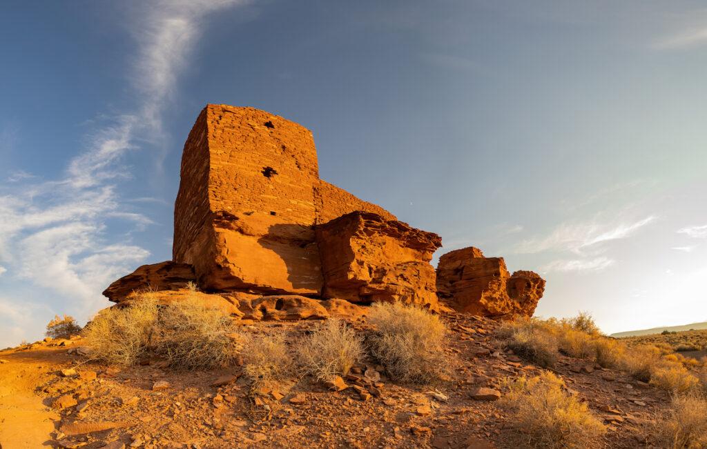 The Wukoki Ruins in Arizona.