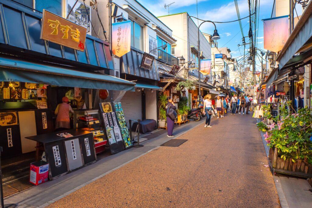 The Yanaka neighborhood in Tokyo.