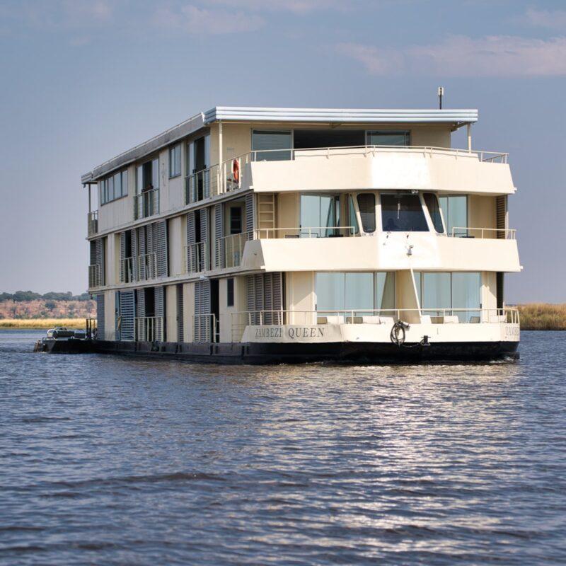 The Zambezi Queen on the Chobe River.