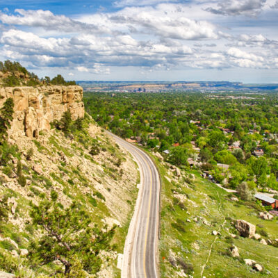 The Zimmerman Trail along the rimrocks in Billings, Montana.