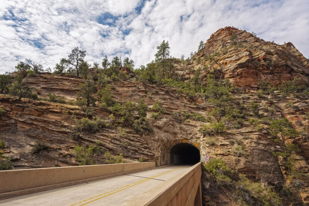 The Zion-Mount Carmel tunnel.
