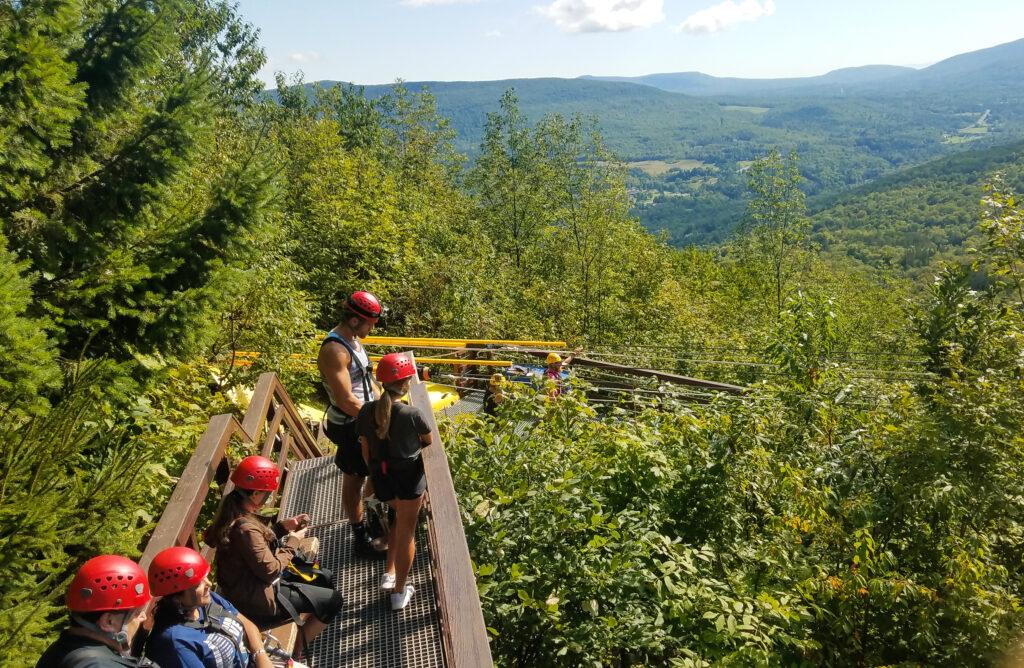 The zipline at Hunter Mountain.