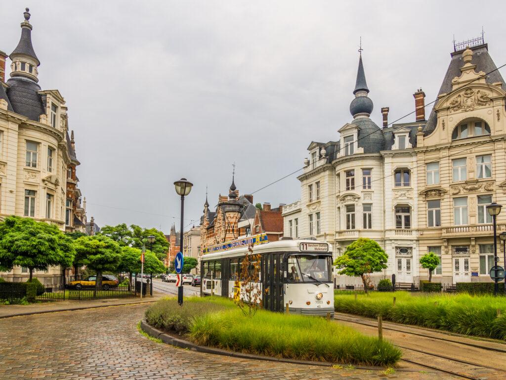 The Zurenborg neighborhood in Antwerp, Belgium.