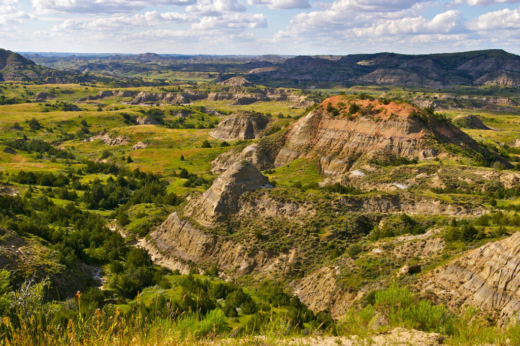 Theodore Roosevelt National Park in Medora, North Dakota.
