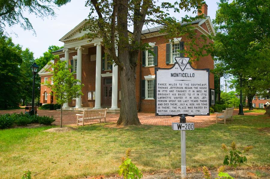 Thomas Jefferson's home in Charlottesville.