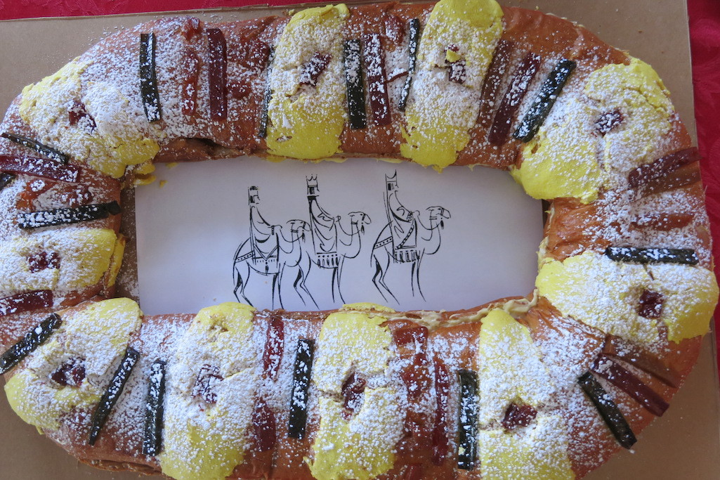 Three Kings Cake, a favorite holiday treat in Latin countries.
