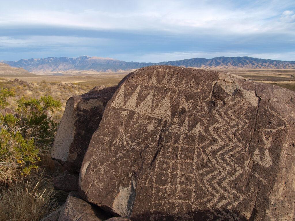 Three Rivers Petroglyph Site near Tularosa, New Mexico.