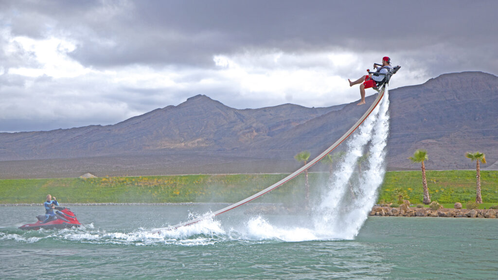 Thrill seekers at Jetpack America in Nevada.