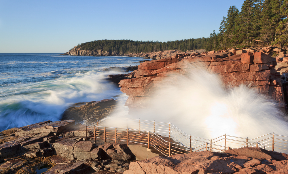 Thunder Hole at Acadia National Park.
