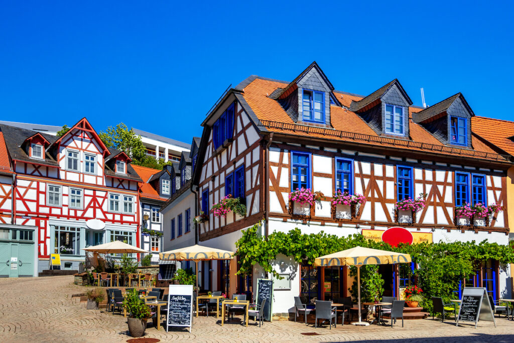 Timbered houses in Idstein, Germany.