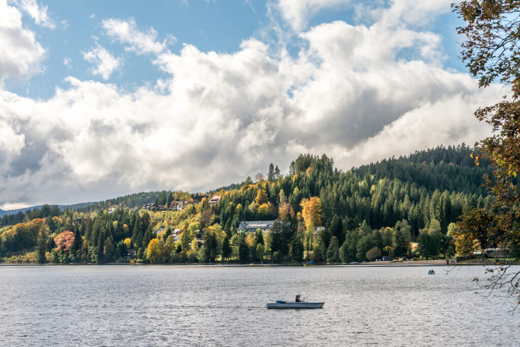 Titisee, a lake in the Black Forest of Germany.