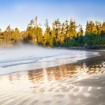 Tofino Beach on Vancouver Island in Canada.