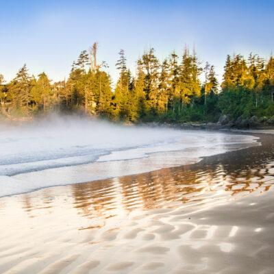 Tofino Beach on Vancouver Island in Canada.
