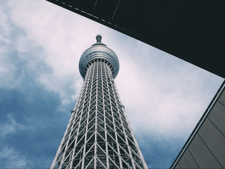 Tokyo Skytree seen from its base
