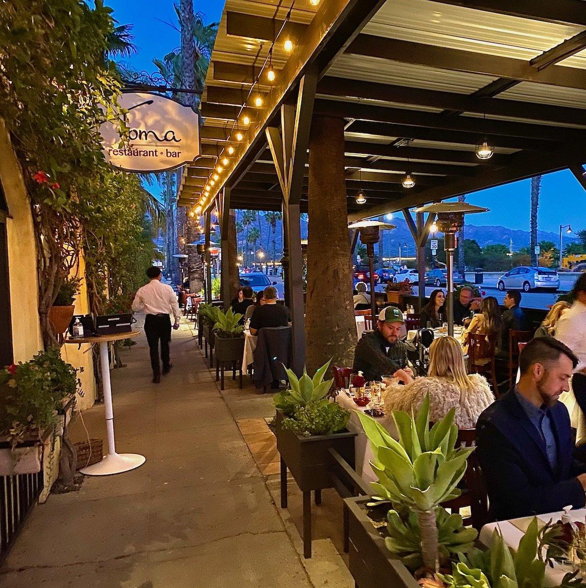 Toma Restaurant exterior, Santa Barbara, California.