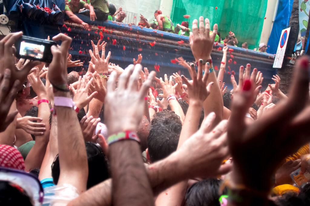 Tomatina Festival in Spain.
