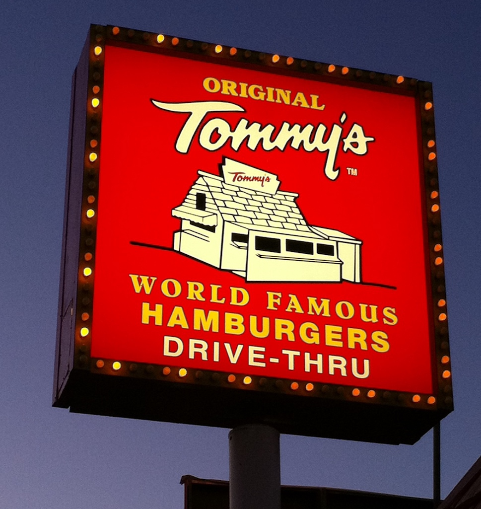Tommy's World Famous Hamburgers in Los Angeles.