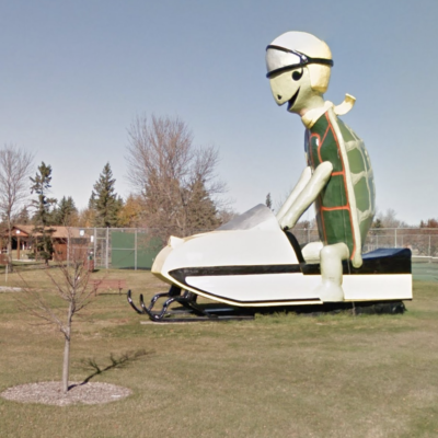 Tommy The Turtle in Bottineau, North Dakota.