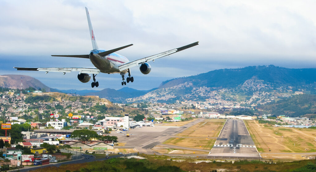 Toncontin International Airport in Tegucigalpa, Honduras.