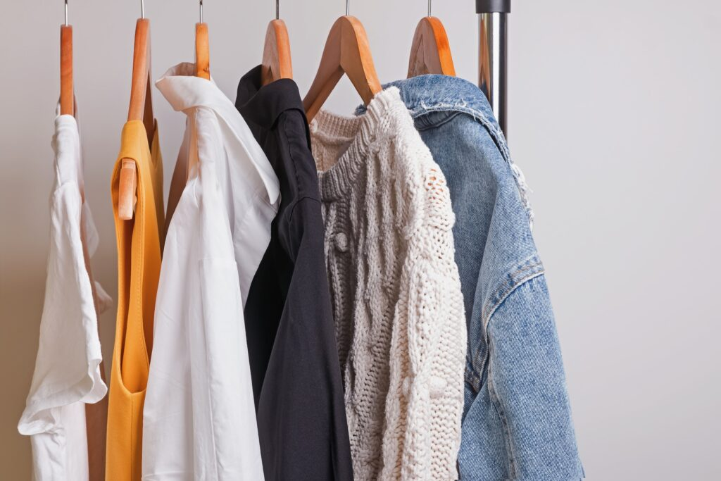 Tops from a capsule wardrobe.