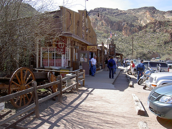 Tortilla Flat western town Apache Trail Arizone